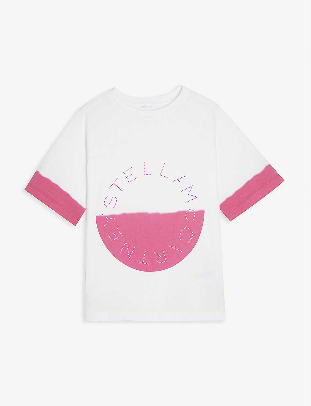 STELLA MCCARTNEY: Half-circle dip dye cotton T-shirt 4 - 16 years
