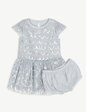 STELLA MCCARTNEY Foil tulle dress 6-36 months