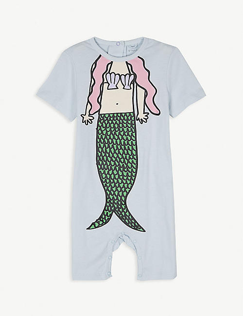 STELLA MCCARTNEY Mermaid cotton shortall 6-36 months