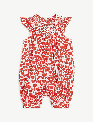 STELLA MCCARTNEY Cotton heart jumpsuit 6-36 months