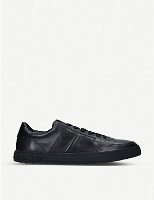 TODS: Casetta leather trainers