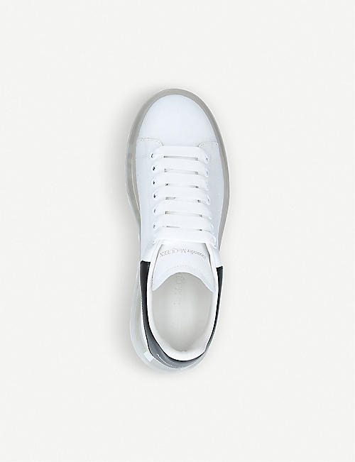 ALEXANDER MCQUEEN Men's Show transparent-sole leather trainers