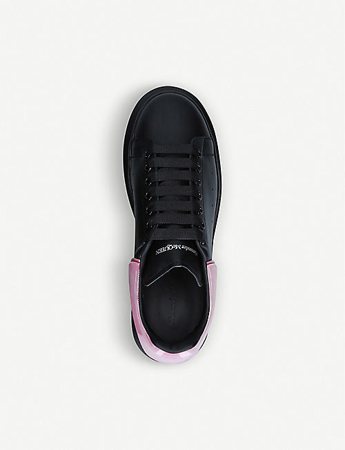 ALEXANDER MCQUEEN Show leather and silicone platform trainers