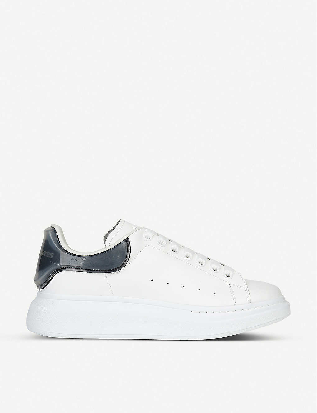 ALEXANDER MCQUEEN: Show leather and silicone platform trainers