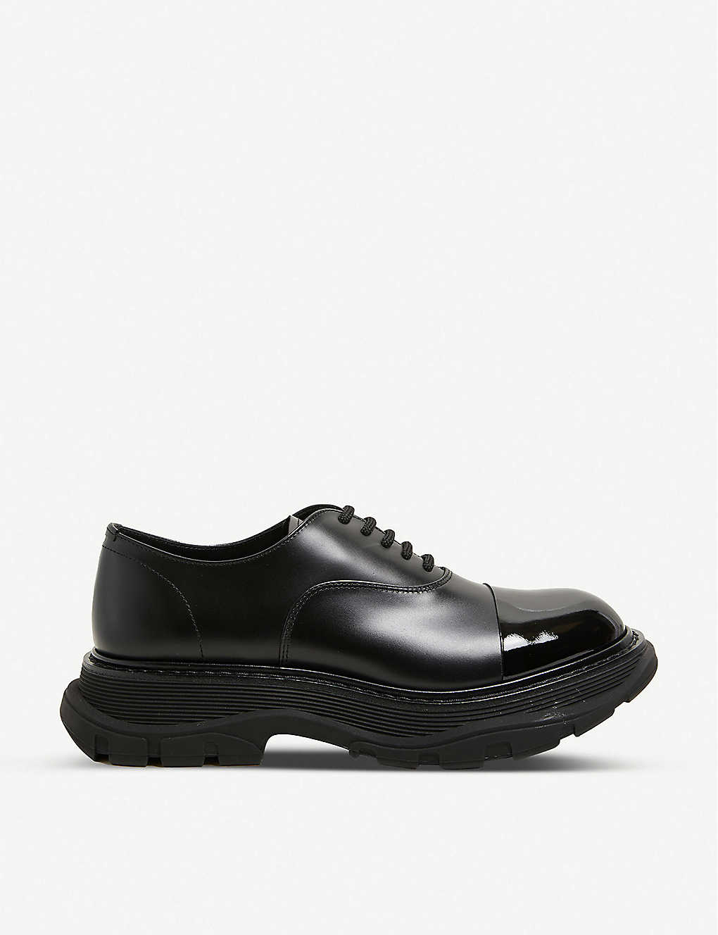 ALEXANDER MCQUEEN: Hybrid Toe Cap leather shoes
