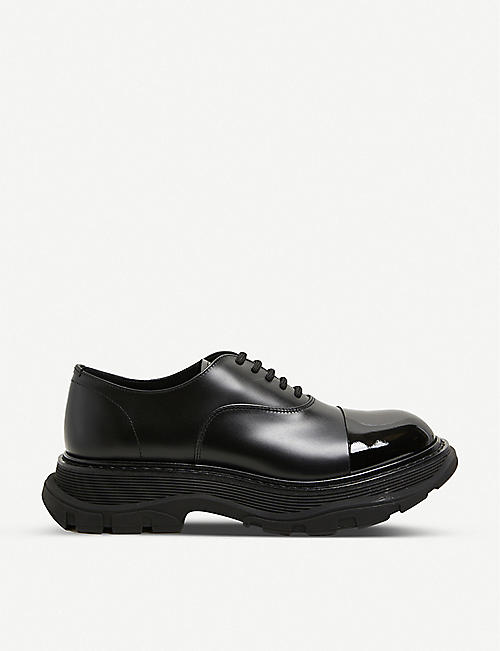 ALEXANDER MCQUEEN: Men's Hybrid Toe Cap leather shoes