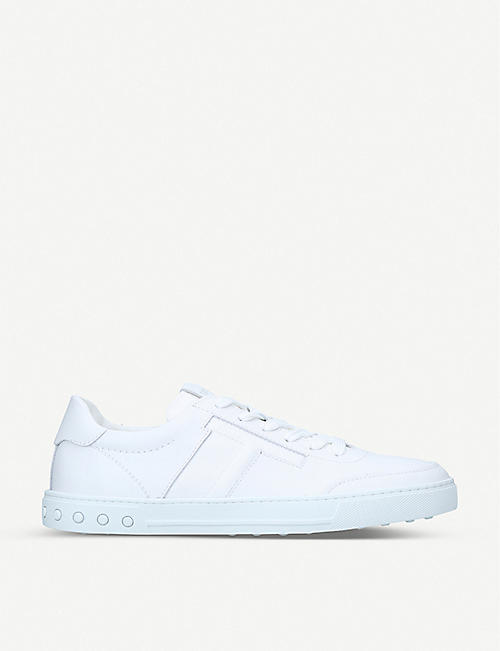 TODS Cassetta T panelled leather low-top trainers