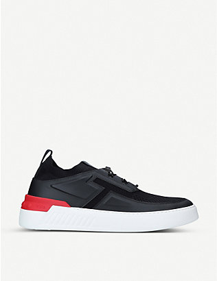 TODS: No_Code X leather and textile trainers