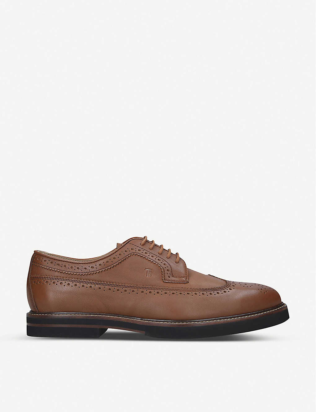 TODS: Brogue-detailed leather Derby shoes