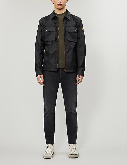 BELSTAFF Dunstall funnel-neck sleeveless waxed jacket