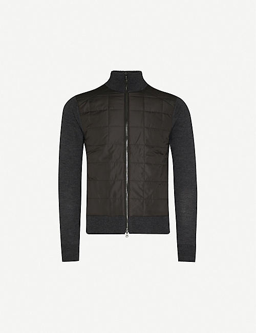 BELSTAFF Quilted shell and wool jacket