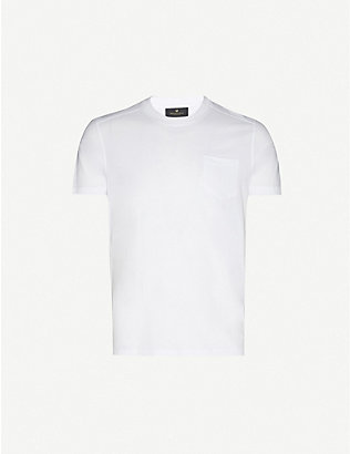 BELSTAFF: Logo-patch cotton-jersey T-shirt