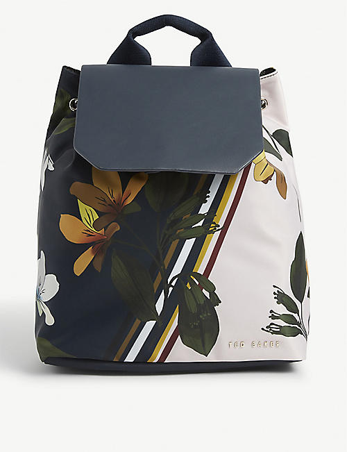 TED BAKER Taitumm Savanna floral-print backpack