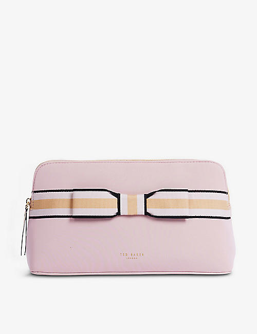 TED BAKER: INDAHH Web stripe wash bag
