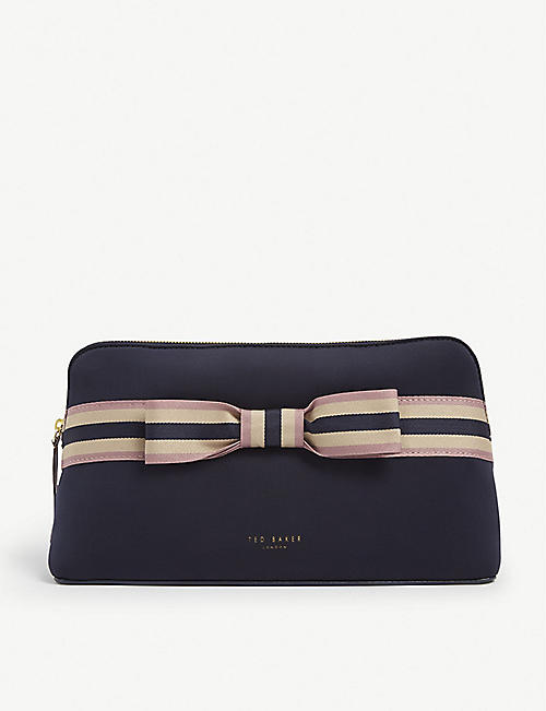 TED BAKER INDAHH Web stripe wash bag