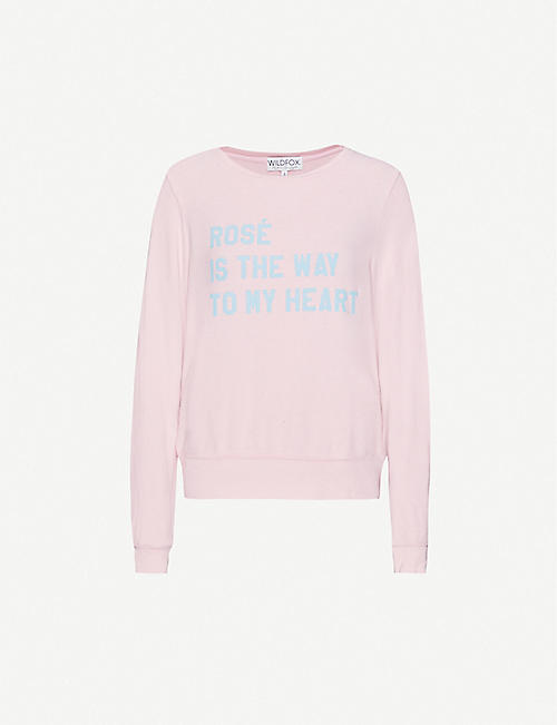WILDFOX Text-print jersey sweatshirt