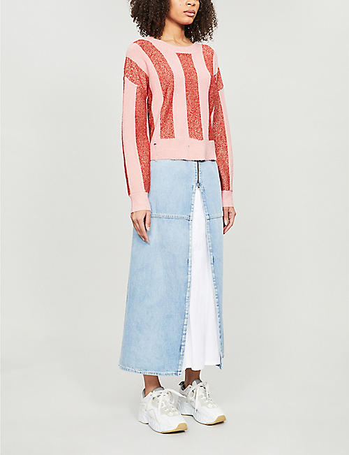 WILDFOX Sweetheart stripe knitted jumper