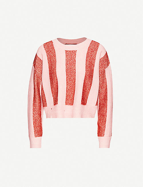 WILDFOX: Sweetheart stripe knitted jumper