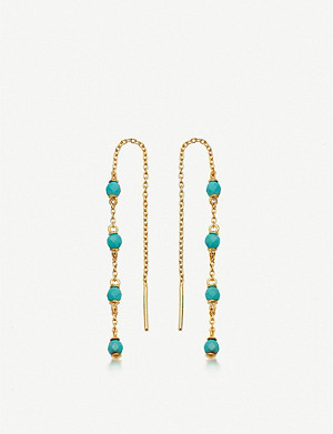 ASTLEY CLARKE Stilla Chain 18-ct gold-plated silver turquoise gemstone earrings