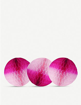 PAPER DREAMS: Honeycomb ball paper decoration set of three