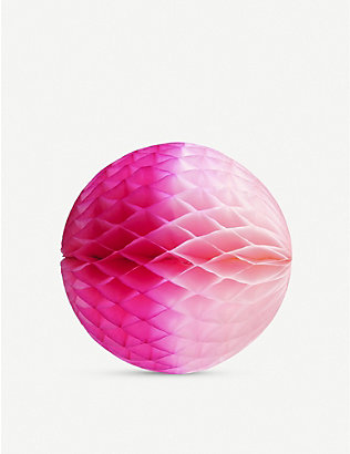 PAPER DREAMS: Honeycomb ball paper ornaments set of two 35 Cm