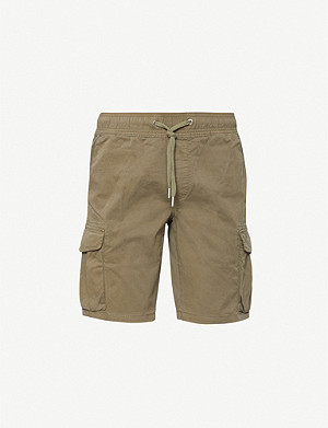 CK JEANS Drawstring-waist relaxed-fit cotton-jersey cargo shorts