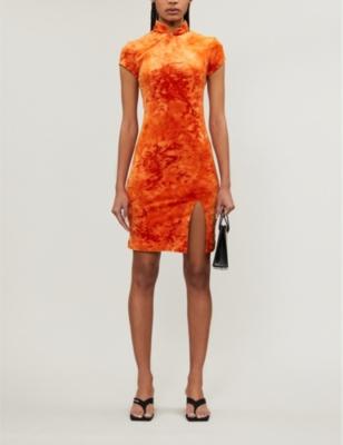 Tie Dye Velvet Mini Dress by Kim Shui