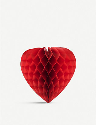 VALENTINES: Heart honeycomb decoration 45cm