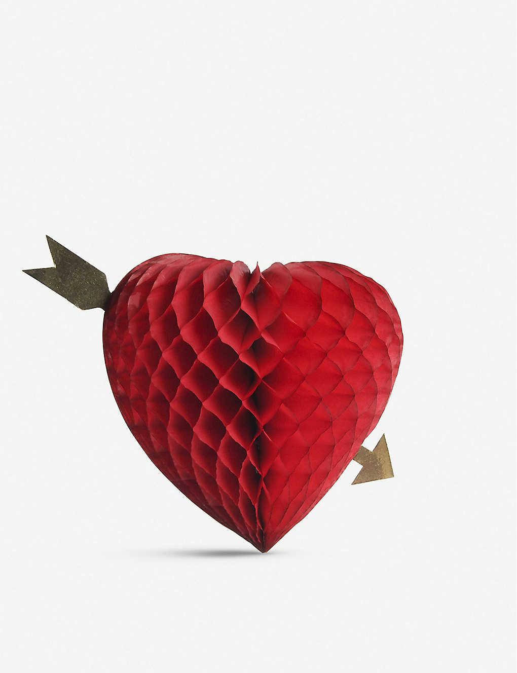 VALENTINES: Cupid's Heart honeycomb decoration 20cm