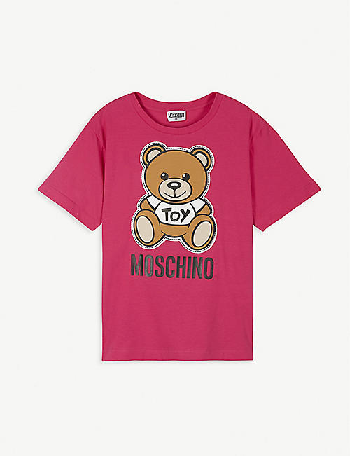 MOSCHINO Toy bear-print cotton T-shirt 2-16 years
