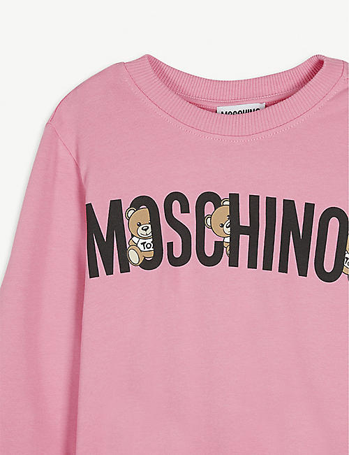 MOSCHINO Toy bear logo-print cotton sweatshirt 2-16 years