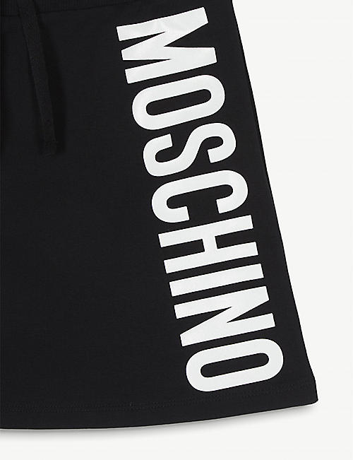 MOSCHINO Side logo cotton sweatskirt 4-14 years