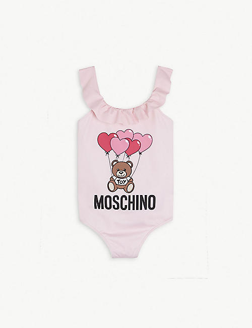 MOSCHINO: Frill neck shell swimming costume 4-12 years
