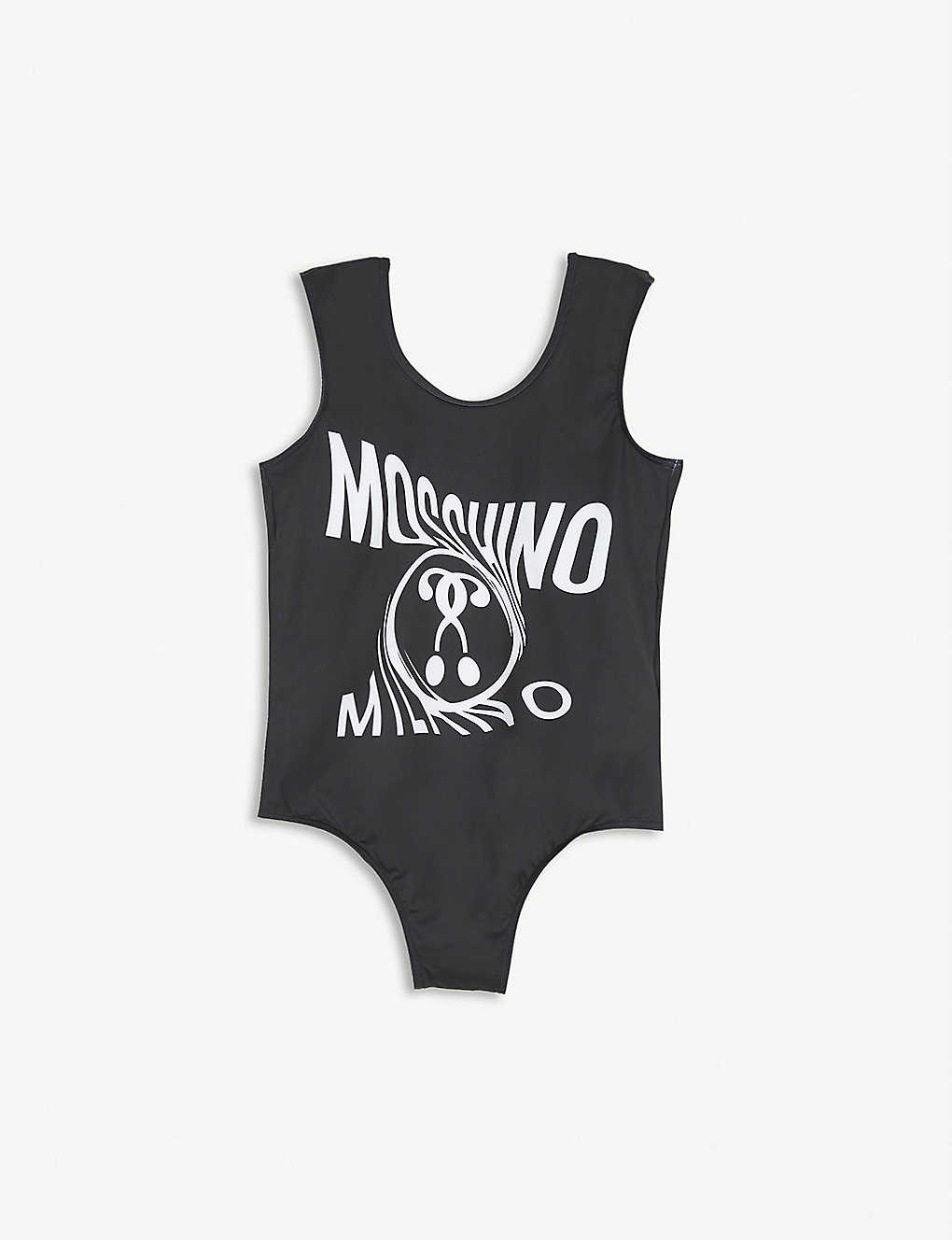 MOSCHINO: Milano logo-print swimsuit 4-12 years