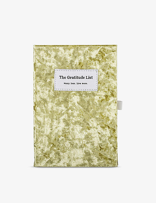 THE GRATITUDE LIST: The Gratitude List velvet A5 journal