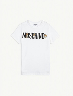 MOSCHINO Logo print cotton T-shirt 4-14 years