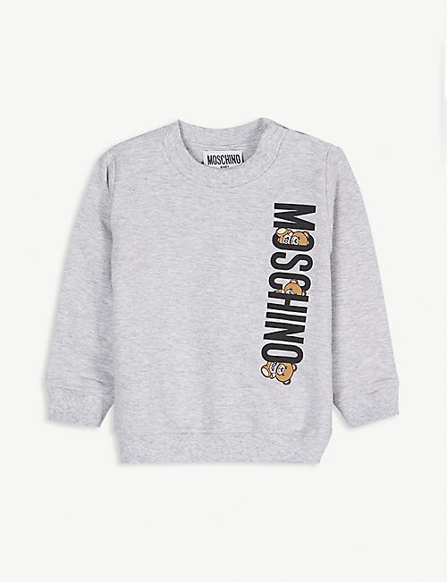 MOSCHINO Bear logo cotton sweatshirt 3-36 months