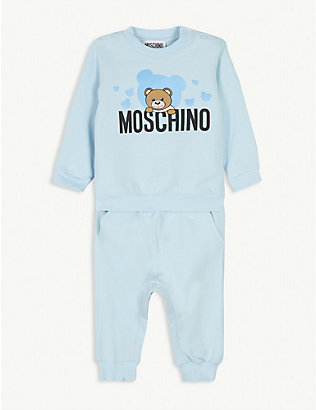 MOSCHINO: Cotton sweat set 3-36 months
