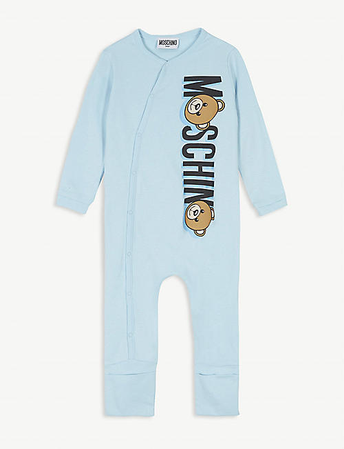 MOSCHINO Bear logo cotton convertible all-in-one 1-18 months