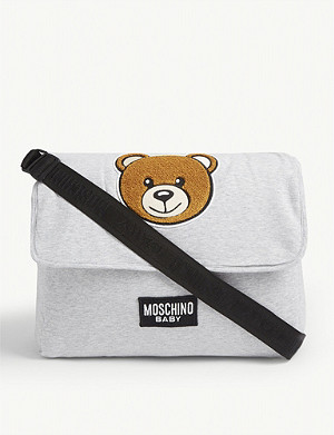 MOSCHINO Bear motif changing bag with mat