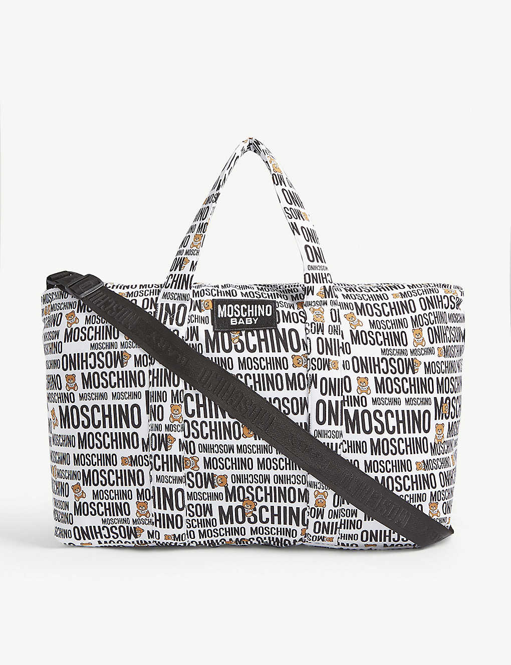 MOSCHINO: Logo cotton-blend baby changing bag and blanket