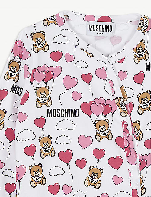 MOSCHINO Balloon bear cotton all-in-one 1-18 months