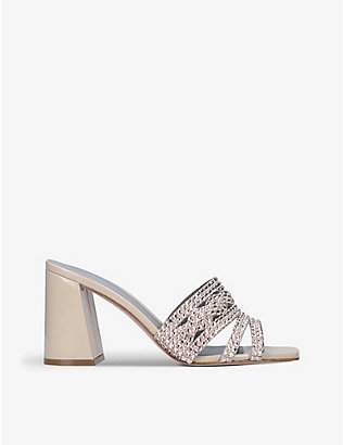 GINA: Arizona embellished leather sandals