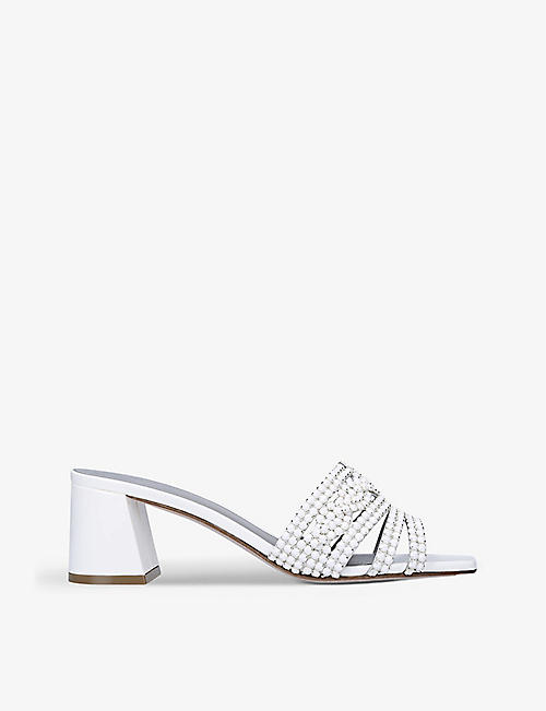 GINA: Utah embellished heeled leather sandals