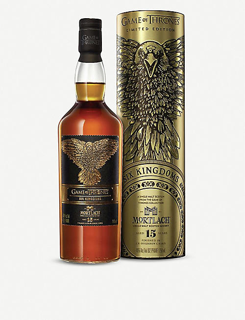 WHISKY AND BOURBON: Mortlach Game of Thrones 15-year-old single malt Scotch whisky 700ml