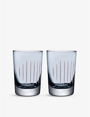 NUDE GLASS: Set of 2 tumblers Parrot smoke & white