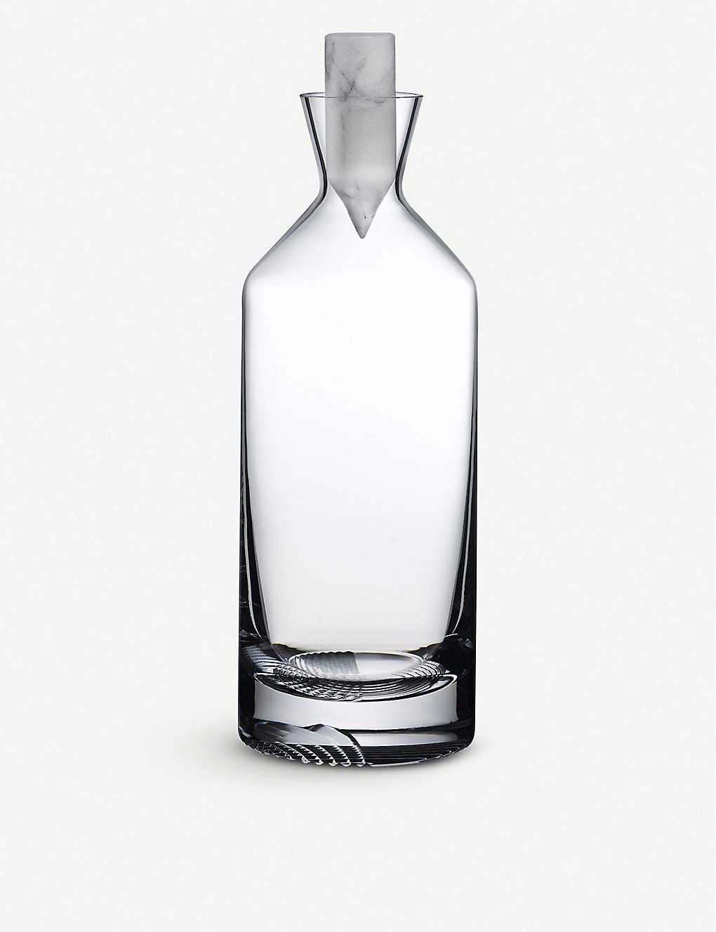 NUDE GLASS: Alba crystal and marble whisky decanter 1.5l