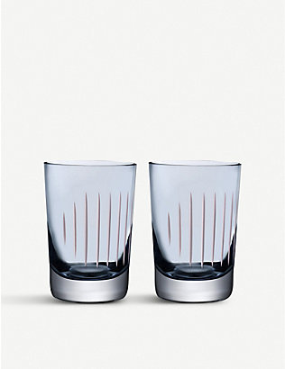 NUDE GLASS: Parrot crystal tumbler set of two