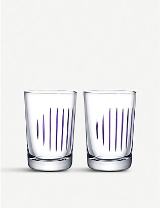 NUDE GLASS: Parrot glass tumblers set of two