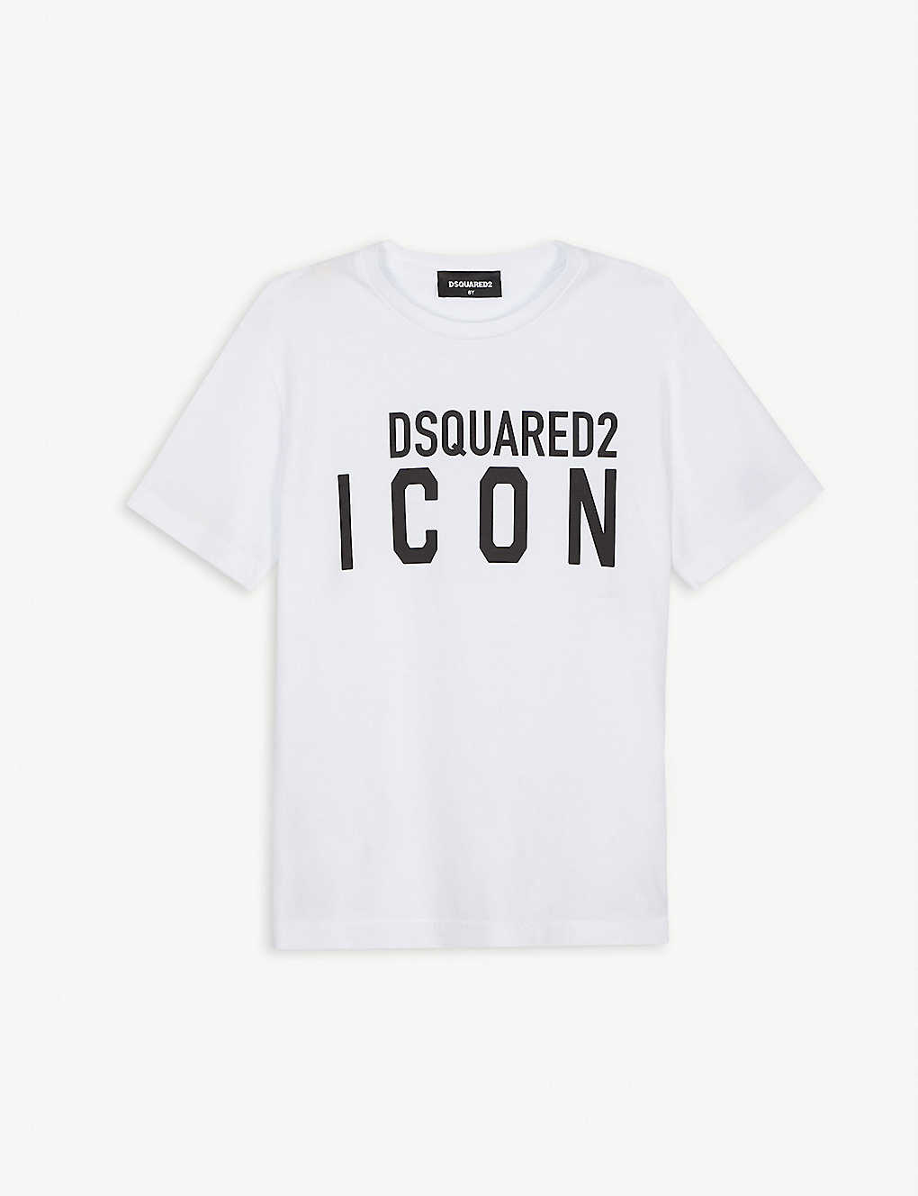 DSQUARED2: Logo icon print T-shirt 4-16 years